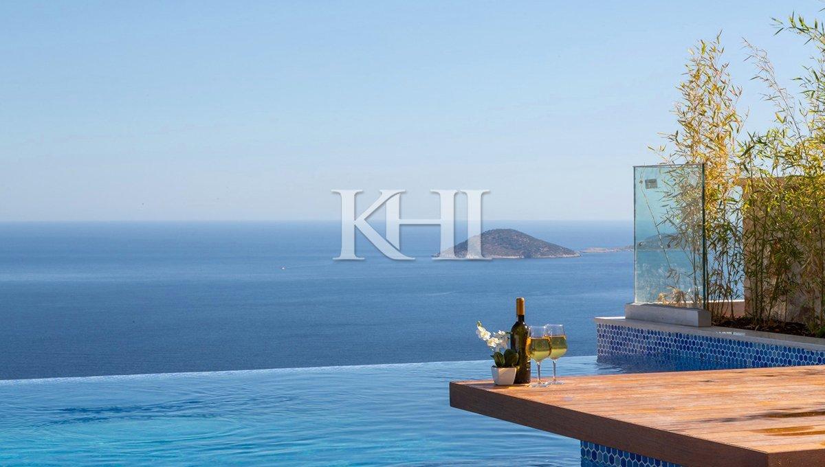 Triplex Villa in Kalkan for Sale with infinity pool