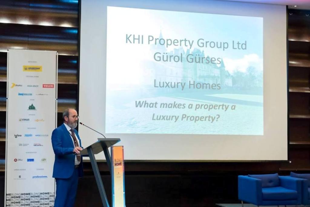 Gurol Gurses presenting on behalf of KHI to the international property community in Romania