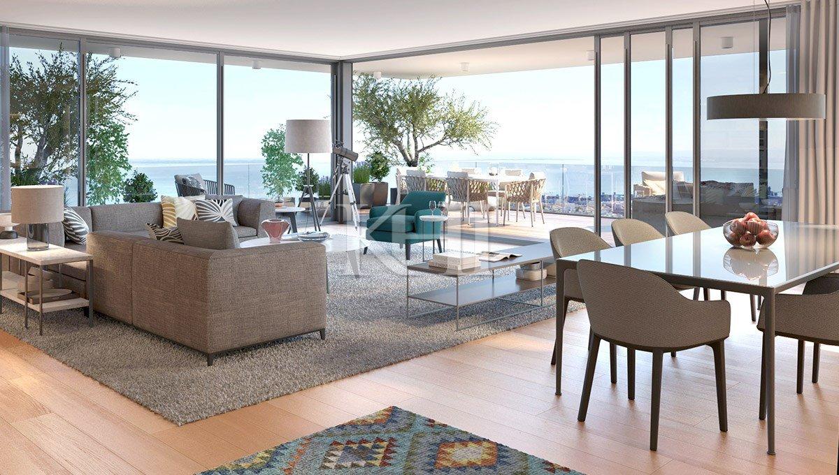 River-View Duplex Penthouse For Sale In Lisbon