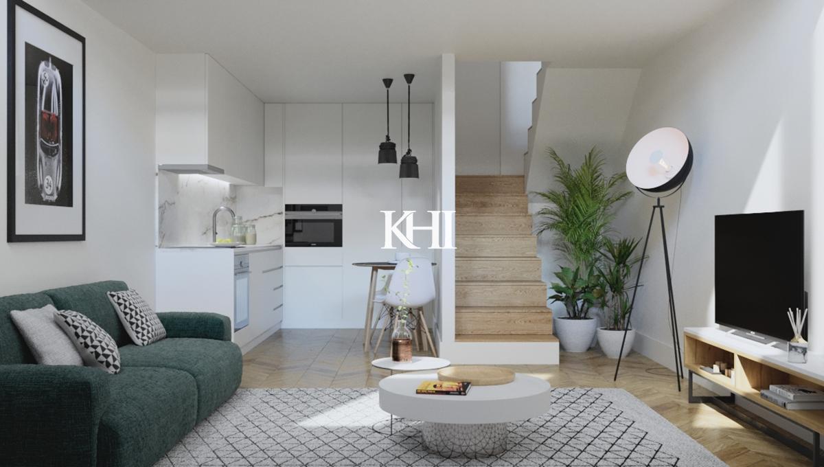 010 Kitchen livingroom duplex mezzanine