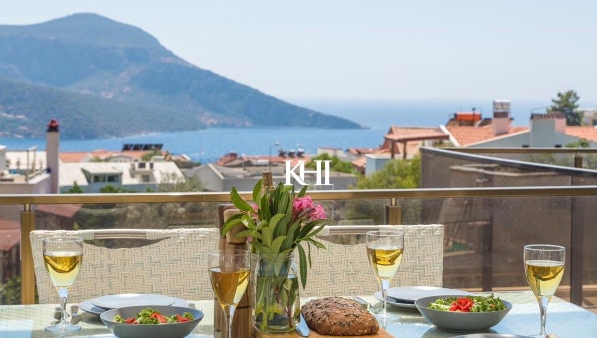 Sea-View Apartment in Central Kalkan For Sale