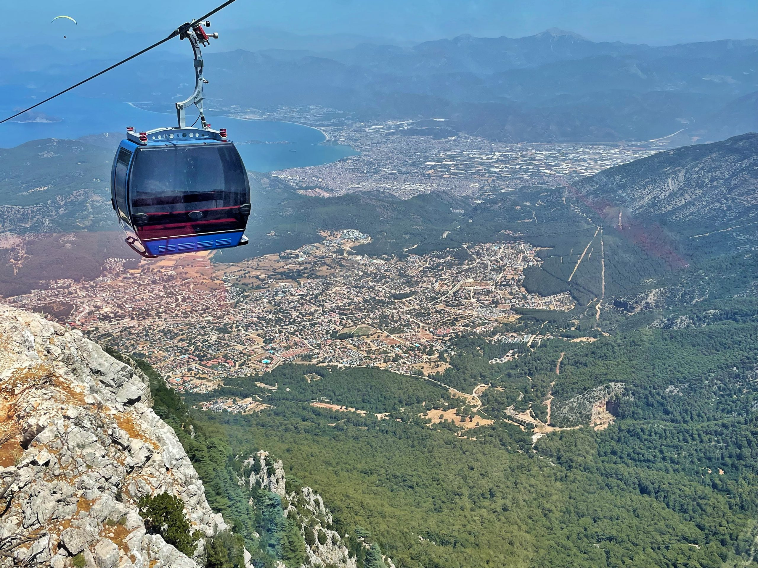 An image to show the view from the new cable car to the top of Babadag.